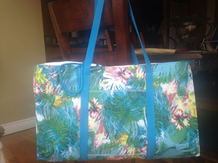 Beach bag - lots of pockets, drawstring top $60