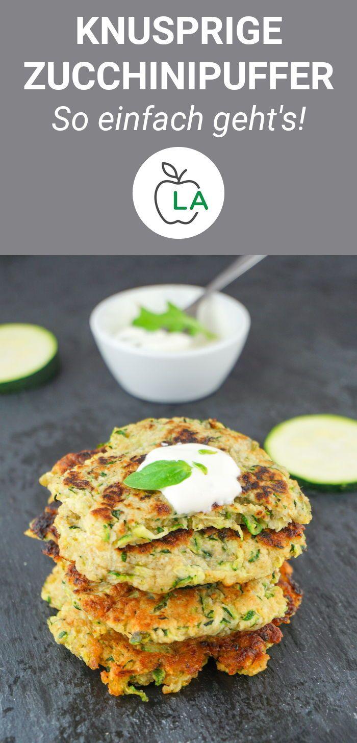 Receta de Zucchini Buffer: baja en calorías, baja en grasas y saludable   – Fitness Rezepte