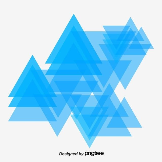 Science And Technology Blue Purple Triangle Element Vector And Png Album Cover Design Geometric Background Banner Design