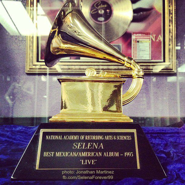Selena's Grammy close up!!