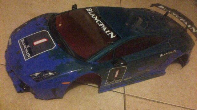 Repairs all done on my tt-01 bodyshell ready for more drifting battle scars