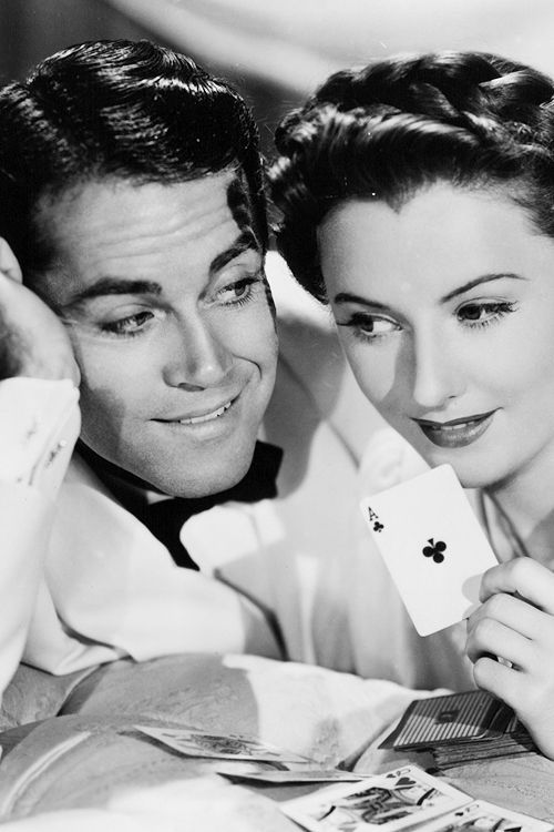 Henry Fonda and Barbara Stanwyck portrait for 'The Lady Eve', 1941