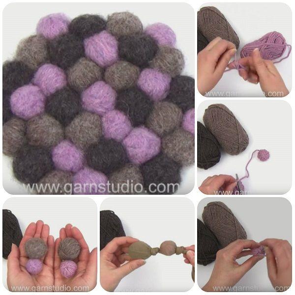 Come fare palline di lana infeltrita – Video Tutorial