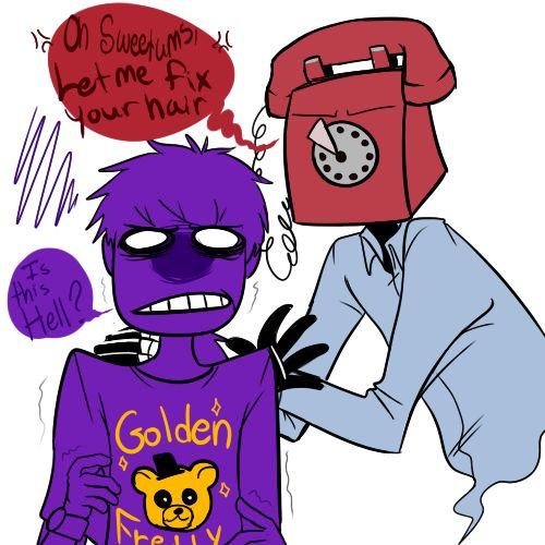 Fnaf purple guy upset phone guy now phone guy is making purple guy s