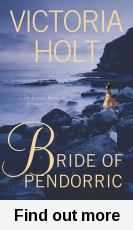 Combination of romance, thriller/murder mystery and ghost story. Favel lives on the idyllic island of Capri with her artist father, and falls madly in love with the handsome Roc Pendorric. After a whirlwind courtship, Roc takes Favel back to his Cornwall estate, where she learns about the legend of the 'Brides of Pendorric', whose lives are cut short by tragic mysterious circumstances. Favel can no longer ignore the accidents that keep happening to her, is she the next to die? Margaret