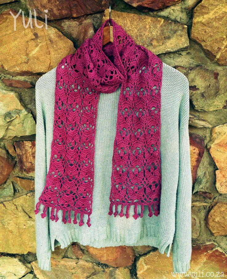 Thank You Scarf By Yuli Nilssen - Free Crochet Pattern - Crochet Diagram Also Included - (yuli)