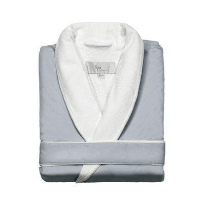Kassatex Spa Bath Robe Size: Large / Extra Large, Color: Silver Sage