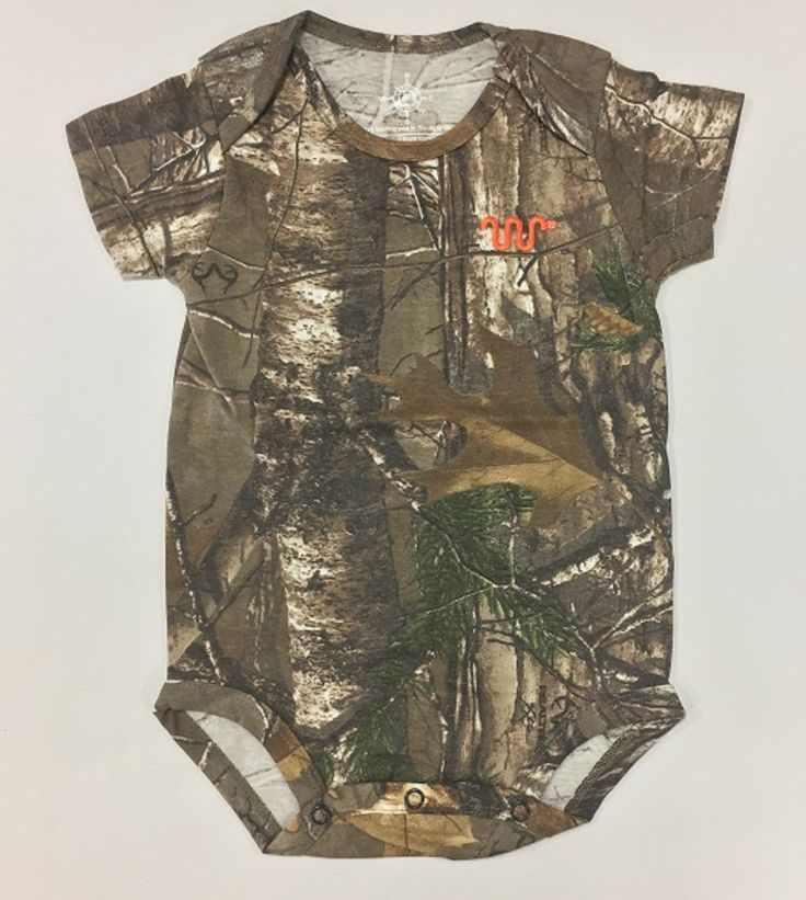 Realtree baby camo bodysuit with orange Running W®. | King Ranch Saddle Shop