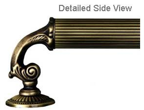 """First Impressions SD-MBR-833KR-13.5 Victorian Shower Door Handles.   13-1/2"""" decorative victorian design glass shower door handles are 1-3/16"""" Diameter with a 3-1/4"""" projection. They are hand made in the USA by the master craftsmen at First Impressions in your choice of 4 standard finishes at Doorware.com"""