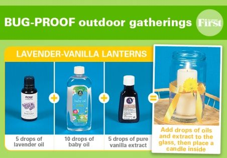 Dining outdoors? Enjoy bug free gatherings with this super easy Natural Bug-Repelling Lanterns.