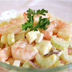 Очень вкусный салат с креветками (Shrimp salad)