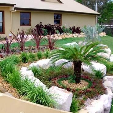 Rocks Landscaping And Palm Trees On Pinterest