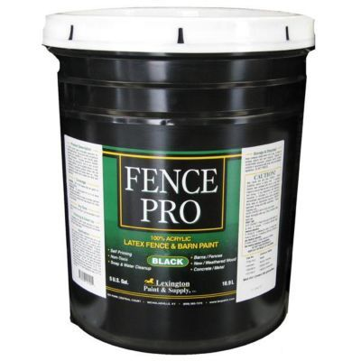 Lexington Professional Fence Paint, Black, 5 gal