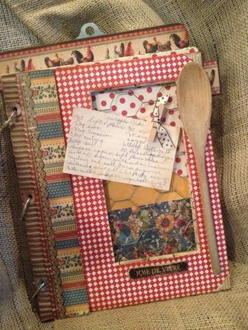French Country Clipboard Recipe Book
