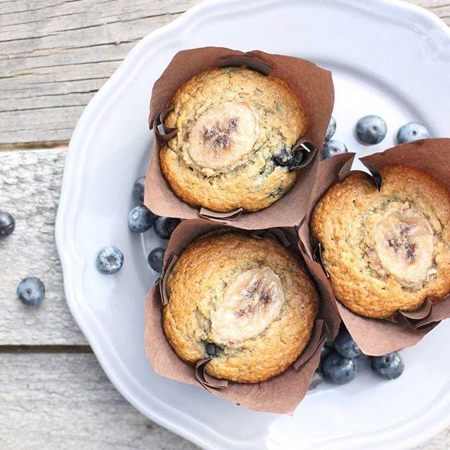 GF Blueberry Banana Muffins