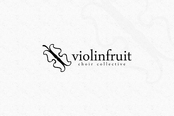 Violin Fruit Logo by EmilGuseinov on @creativemarket