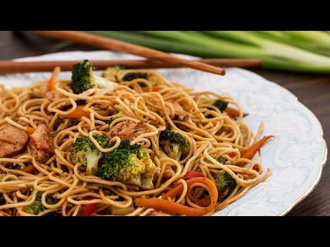 Chicken Stir-Fry Noodles Recipe - YouTube