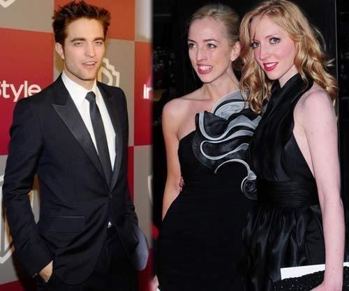 Rob, Lizzy, and Victoria Pattinson
