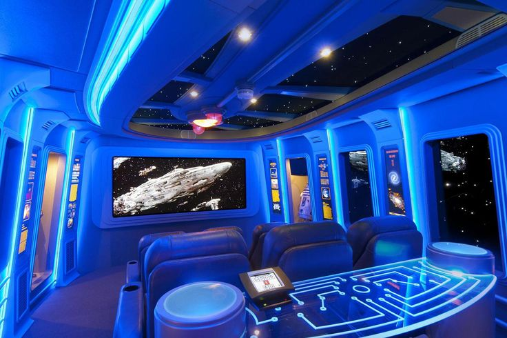 "Ready for ""Episode VII""? Here are five Star-Wars-inspired home theaters, complete with star-lit walls and replicas of the franchise's most iconic characters."