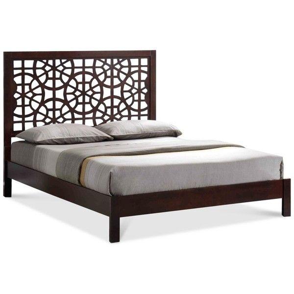 hurly modern u0026 wooden queen platform bed frame 769 liked on polyvore