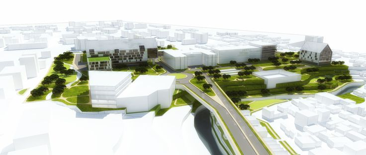 AERIAL VIEW _ Dr. Sardjito Masterplan Concept, Yogyakarta, Indonesia