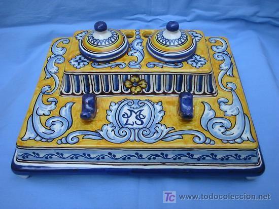 Escriban a cer mica renacentista talavera espa a - Azulejos reina ...