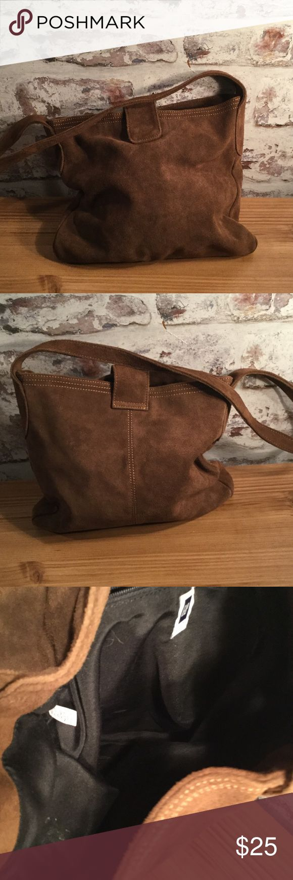 Suede sack bag from Gap🎈sale🎈 Suede sack bag from the Gap. Excellent condition GAP Bags Shoulder Bags