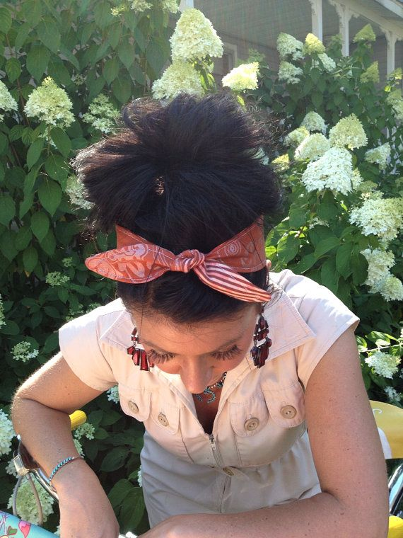 Dolly Bow Tie Up Headscarf Headband Bandana  Hair by lovesaraxoxo, $12.00