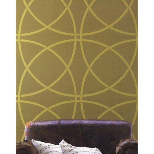 Bold Geometric Circles Clean Look Modern Wall Stencil Stencilboss  Housewares On Artfire With Garden Stencils For Walls