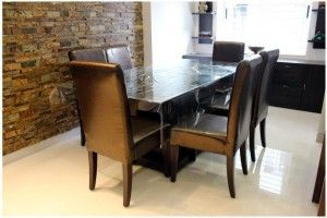 he dining area is one such space in your house which carries an everlasting impression to the guest. Mobel offers a wide range of options for Dining Furniture Sets. You can browse our e-catalogue to help you buy dining table online. Dining Tables are available in wood as well as with glass tops.