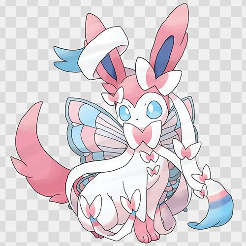 I have never seen Mega Sylveon before. I have been looking at all the X and Y Pokémon and I have saw Sylveon before but not Mega Sylveon.