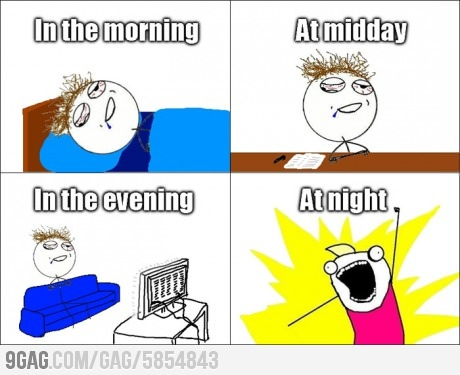 Me everyday.