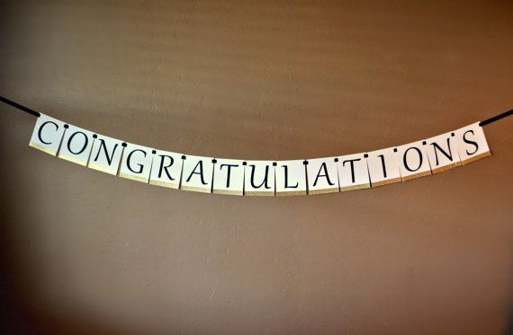 Congratulations Banner by LittleLinnDesigns on Etsy