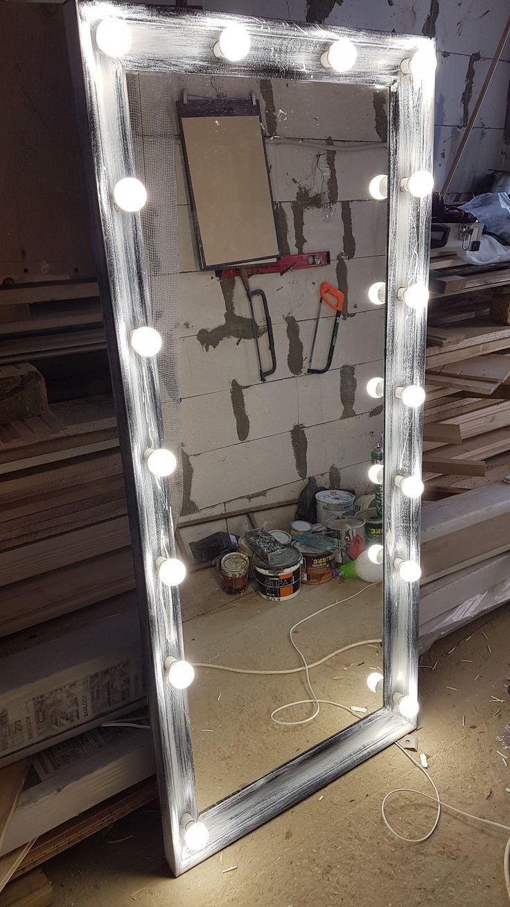 Вот так за 1 день из простого зеркала сделали гримерное и более симпатичное