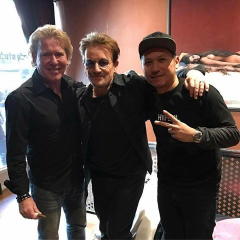 Steve Lillywhite, Bono et Gardin Marten a New York