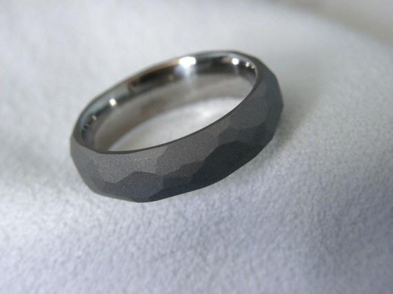 Titanium Ring Ground Profile Band Sandblasted Finish