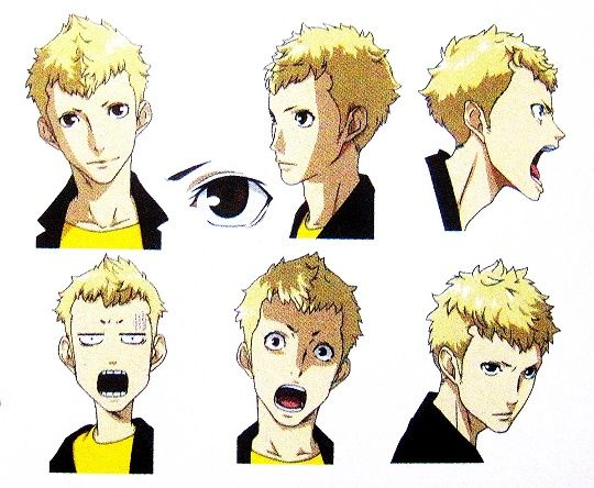 Ryuji expressions artwork