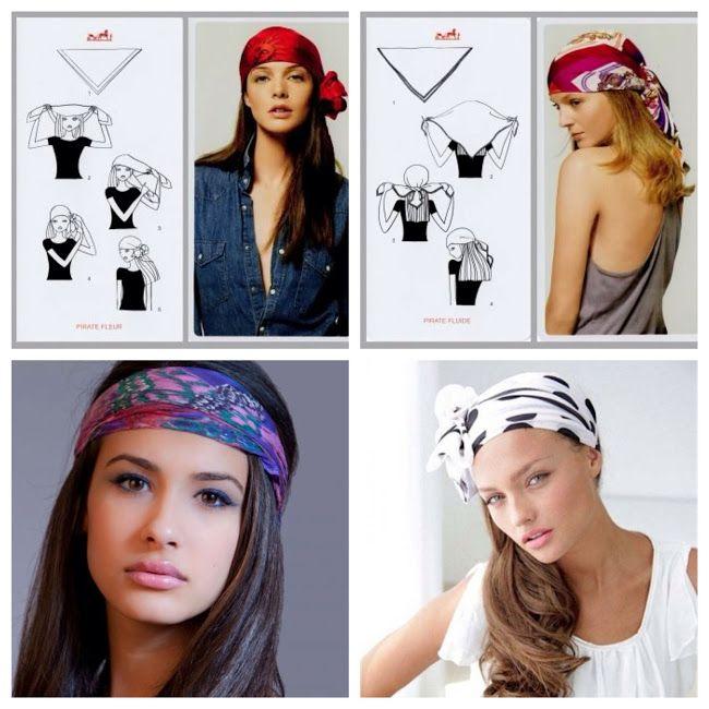 ESTILISMO CON ROMY: Formas de poner un pañuelo en la cabeza