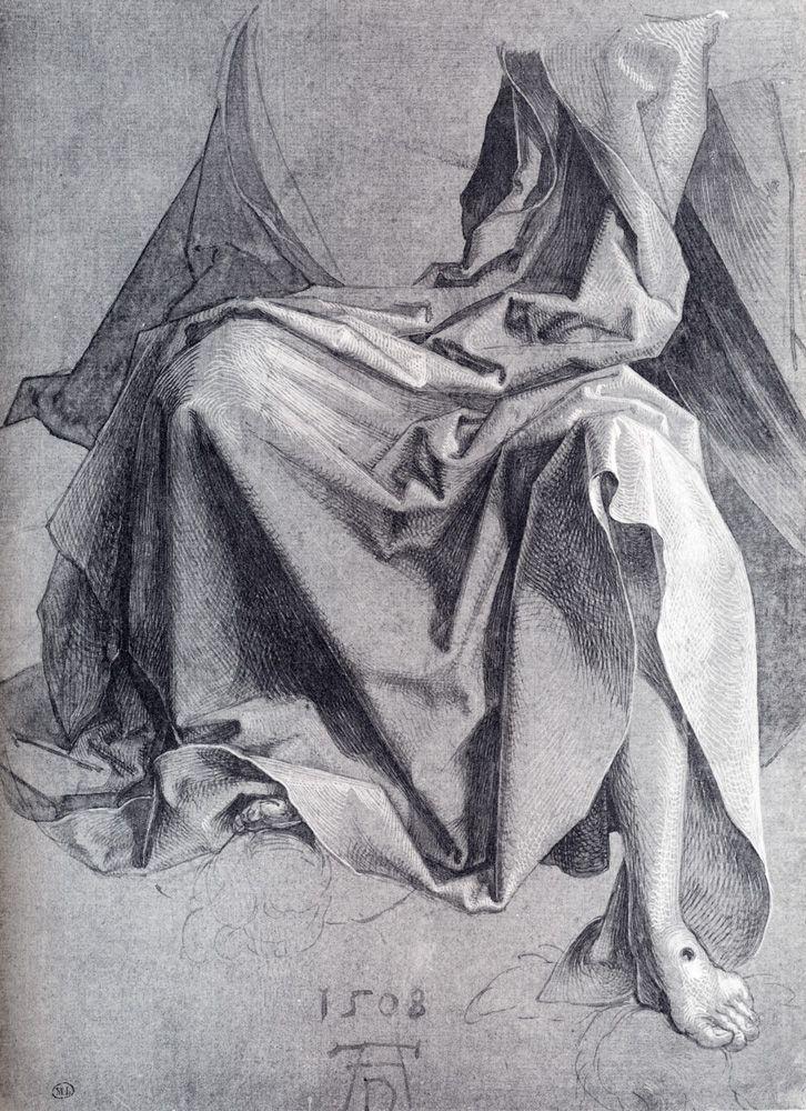 Albrecht Durer (1471-1528) 1508  Study Of Drapery  Brush drawing  Louvre (France)