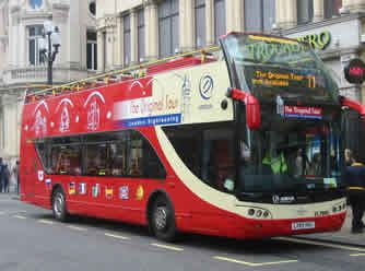 London: The Original London Sightseeing Tour    Adult (16+) £23.00    Child (5-15) £11.00     http://www.theoriginaltour.com/