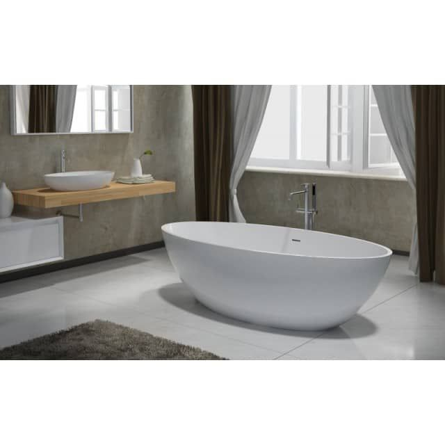 Freistehende badewanne oval günstig  Freistehende Badewanne Raffinierten Look – edgetags.info