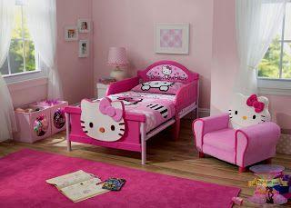 اروع تصاميم وأشكال غرف اطفال هيلو كيتي كامله للبنات 2021 Toddler Bedroom Sets Hello Kitty Bedroom Decor Hello Kitty Bedroom Set