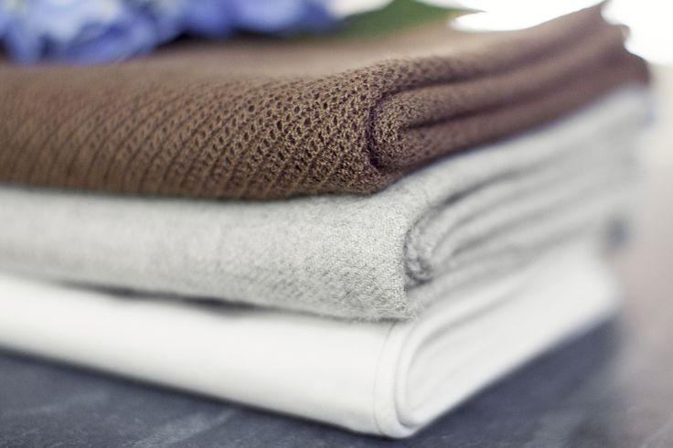 Our delicate fabrics: vicuña, baby alpaca and pima cotton