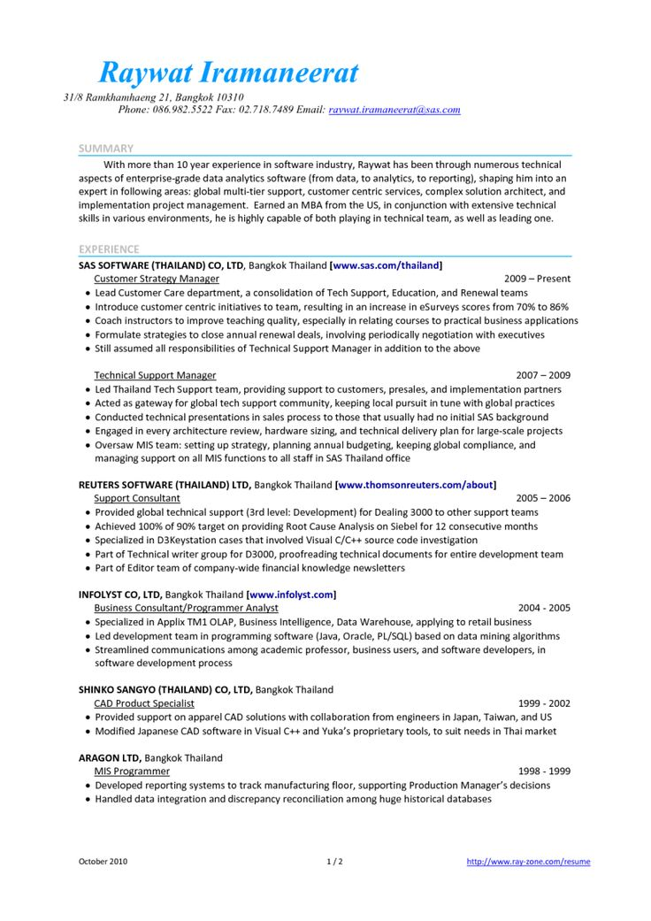 resume examples for professional summary
