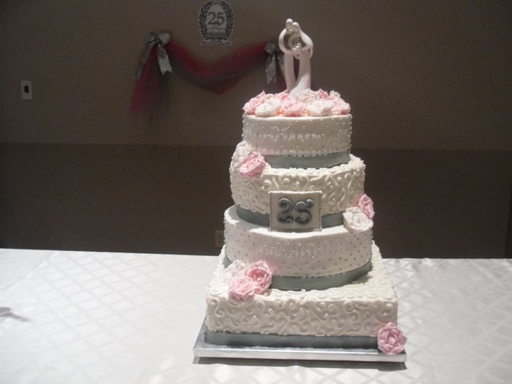 pink white and silver wedding cakes silver anniversary dresses cake whimsy pink amp silver 18601