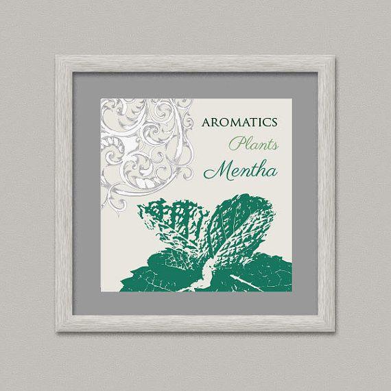 Aromatics Plants MINT Wall Decor Printable Digital by OopsyIdeas