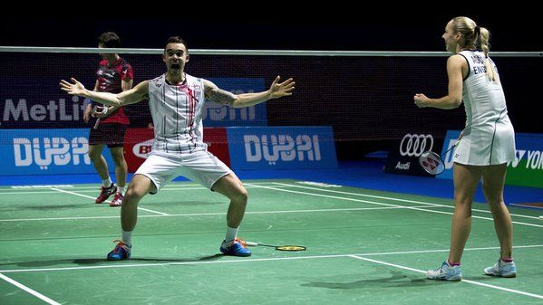 December 14 2015 - Chris and Gabby Adcock become the first British winners of the Dubai World Superseries Finals