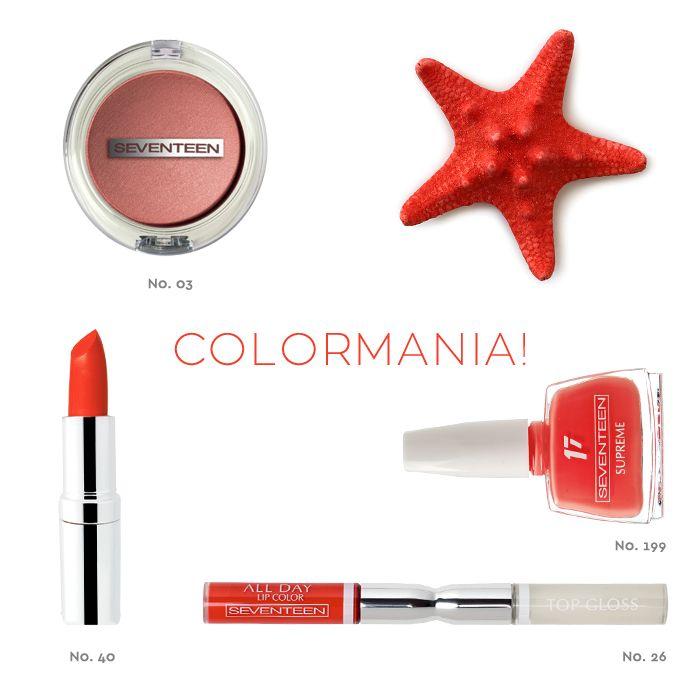 Colormania | Seventeen Cosmetics #nails #beauty #seventeen #cosmetics #lipstick #lip #eyeshadow