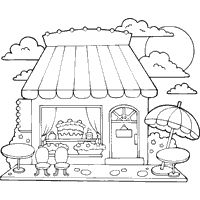 ice cream store coloring pages-#4