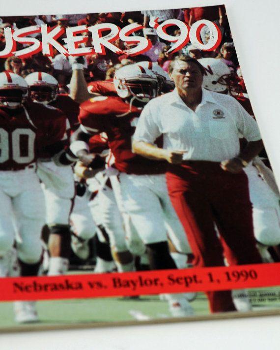 Nebraska Football Game Program 1990 Baylor At Nebraska #112(B)